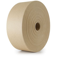"TUFF TAPE 2.5"" X 600' KRAFT  NON REINFORCED GUM TAPE 12/CS"